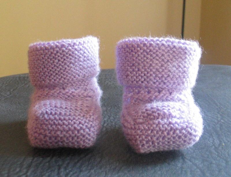 modele tricot chaussons bebe gratuit
