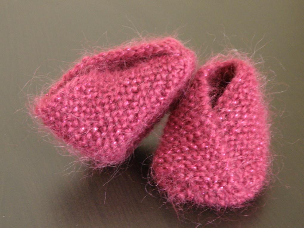 Modèle tricot chausson bébé gratuit - L'univers du bébé