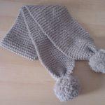 Modèle tricot écharpe bébé gratuit