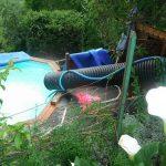 Toboggan piscine maison