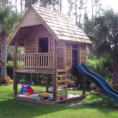 Good je veux trouver un tobboggan enfant pour mes enfants pas cher ici cabane en bois avec bac - Sable pour bac a sable pas cher ...
