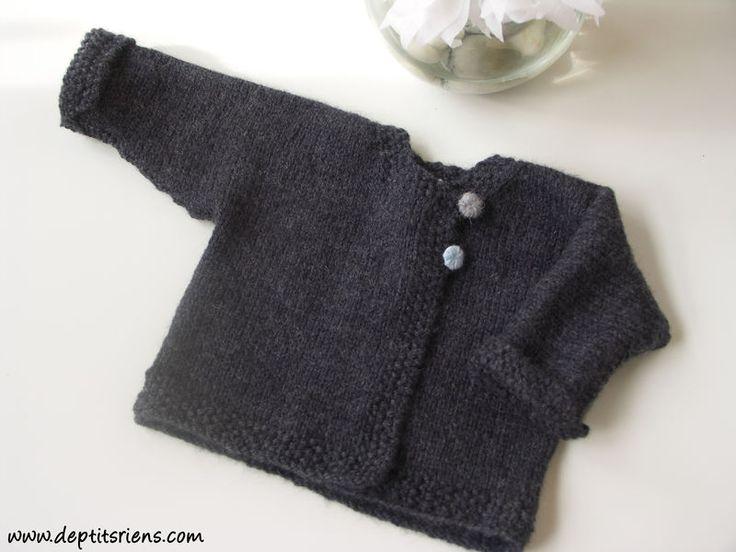Häufig Gilet bébé tricot facile - L'univers du bébé PC46
